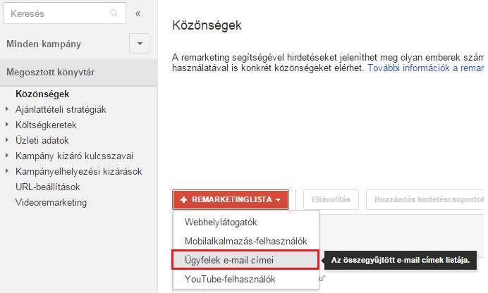 e-mail célzás