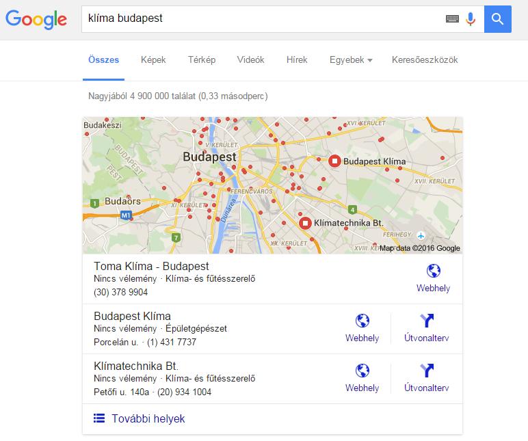 keresés google